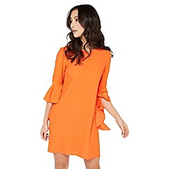 Miss Selfridge - Orange flute sleeve dress
