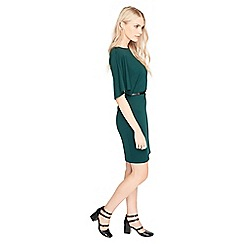 Miss Selfridge - Green angel sleeve dress