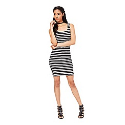 Miss Selfridge - Stripe bandage bodycon dress