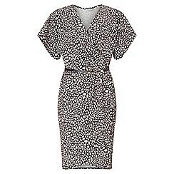Miss Selfridge - Printed wrap belted dress