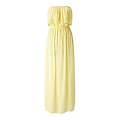 Miss Selfridge - Yellow bandeau maxi dress