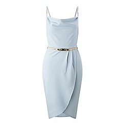 Miss Selfridge - Cowl neck wrap dress