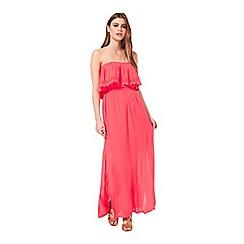 Miss Selfridge - Red bandeau maxi dress