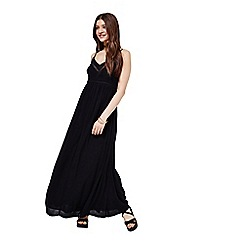 Miss Selfridge - Black strappy maxi dress