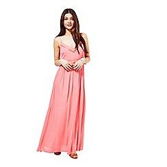 Miss Selfridge - Coral strappy maxi dress