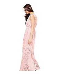 Miss Selfridge - Pink lace maxi dress