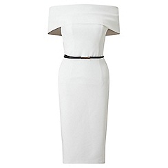 Miss Selfridge - Ivory deep bardot dress
