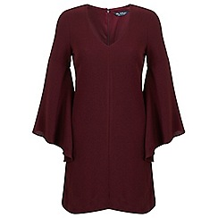 Miss Selfridge - Burgundy extreme sleeve dress