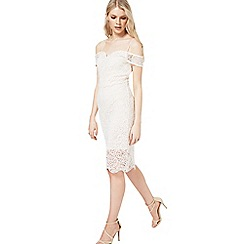 Miss Selfridge - White lace bodycon dress