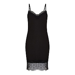 Miss Selfridge - Black lace cami dress