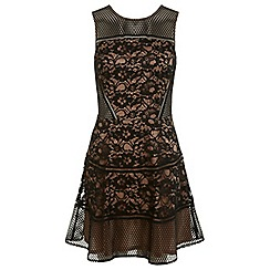 Miss Selfridge - Mixed lace skater dress