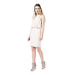 Miss Selfridge - Nude double layer dress