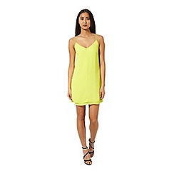 Miss Selfridge - Chartreuse slip cami dress