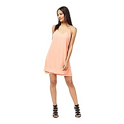 Miss Selfridge - Coral midi slip dress