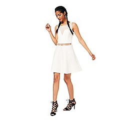 Miss Selfridge - Ivory scuba skater dress