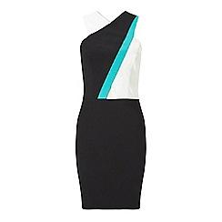 Miss Selfridge - Teal strap bodycon dress