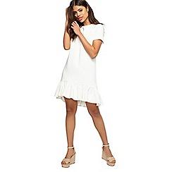 Miss Selfridge - Ivory peplum hem dress