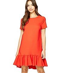 Miss Selfridge - Red peplum hem dress