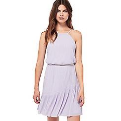 Miss Selfridge - Plisse asymmetric hem dress