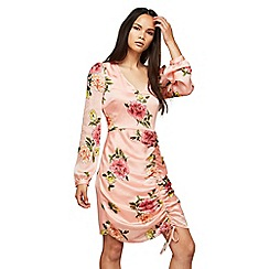 Miss Selfridge - Printed rouched dress