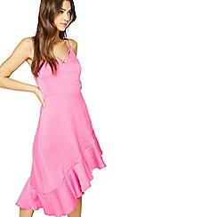 Miss Selfridge - Fuchsia hanky hem dress