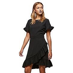 Miss Selfridge - Black frill hem dress