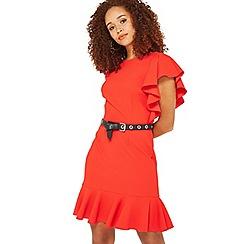 Miss Selfridge - Red ruffle dress