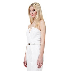 Miss Selfridge - White tux jumpsuit