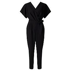 Miss Selfridge - Black kimono wrap jumpsuit