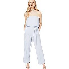 Miss Selfridge - Blue bandeau jumpsuit