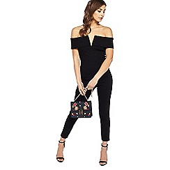 Miss Selfridge - Black bardot jumpsuit
