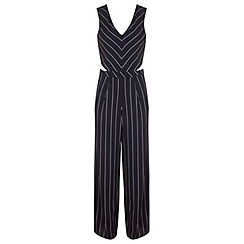 Miss Selfridge - Stripe cutout jumpsuit