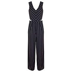 Miss Selfridge - Stripe cutout jumpsuit