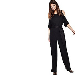 Miss Selfridge - Black wide leg jumpsuit