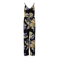 Miss Selfridge - Palm print piping jumpsuit