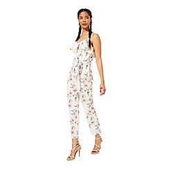 Miss Selfridge - Floral ruffle jumpsuit