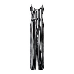 Miss Selfridge - Stripe button front jumpsuit