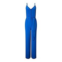 Miss Selfridge - Blue button front jumpsuit