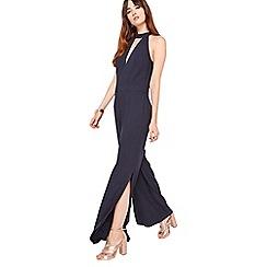 Miss Selfridge - Navy high neck slip jumpsuit