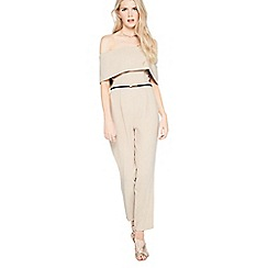 Miss Selfridge - Mink depp bardot jumpsuit