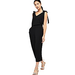 Miss Selfridge - Black tie shoulder jumpsuit