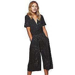 Miss Selfridge - Spot twist culotte jumpsuit