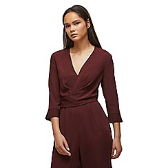 Miss Selfridge - Burgundy long sleeves jumpsuit