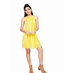 Miss Selfridge - Yellow beaded halter dress