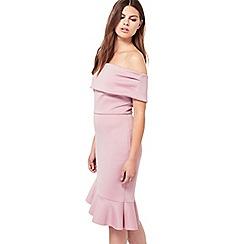 Miss Selfridge - Blush asymmetric hem dress
