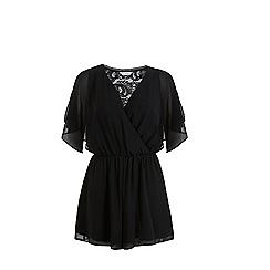 Miss Selfridge - Lace back playsuit
