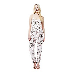 Miss Selfridge - Nude floral jumpsuit