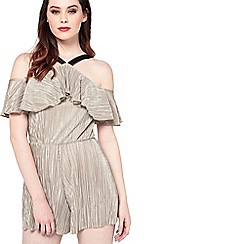 Miss Selfridge - Plisse halter playsuit