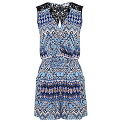 Miss Selfridge - Aztec crochet playsuit