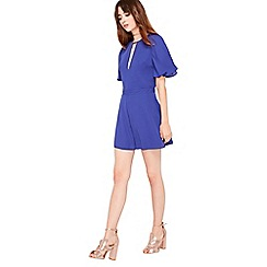 Miss Selfridge - Cobalt angel sleeve playsuit